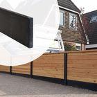 Standaard Onderplaat beton Gadero antraciet glad - Hoogte 25 cm