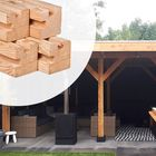 Stapelschutting / Overkapping Hoek Paal Lariks 11.5 x 11.5 x 300 cm glad geschaafd