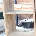 Vakkenkast steigerhout 160x 46 x 40 licht vergrijsd