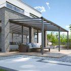 Terrasaanbouw met heldere dakplaat