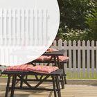 Tuinhek dubbel wit gegrond 150cm breed gepunte lamellen
