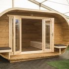 blokhut Camping Oval thermowood opgebouwd