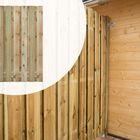 Tuinscherm Geïmpregneerd hout Topper 180 cm 21 planks (19+2) Lameldikte 16 mm in 5 breedte maten