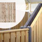 Tuinscherm Geïmpregneerd hout met 19 planks (17+2) in 5 hoogtes