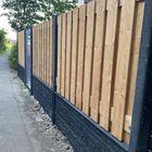 Red Class Wood Tuinscherm met Beton Onderplaat