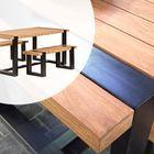 Tuinset Wellington Teak Hardhout met Zwart staal 180 x 90 x 76 cm   EU