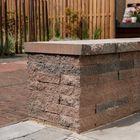 Gekloofde stapelblokken Wallblock Split Brons 16x6x40