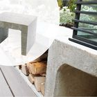 U Element Beton Grijs 40 x 40 x 50 cm