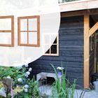 Vast raam Lariks Douglas 59.2 x 76.2 cm enkel glas - Glad geschaafd