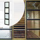 Vaste Glazen Wandmodule overkapping 210 x 45 cm Staallook Zwart hout