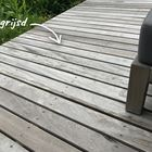 Vergrijsde vlonderplank Garapa