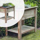 Verhoogde moestuintafel grenenhout 85 x 60 x 82 cm Verhoogde Kweekbak met 6 bakken