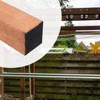 Vierkante Paal Azobe Hardhout 10x10 cm Fijnbezaagd