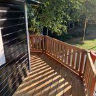 Verhoogd terras met Garapa vlonderplanken