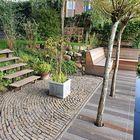 Vlonder met tuinbank van Bankirai hardhout