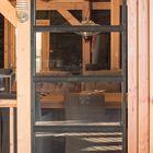 glaswand steellook zwart voor overkapping