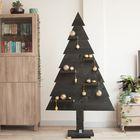 Houten kerstboom zwart met gouden versiering luxe