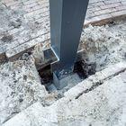 Betonpoer voor aluminium overkapping