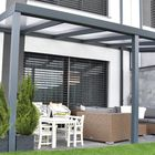 Aluminium Überdachung Legend Plus Edition mit klaren Polycarbonat Dachplatten