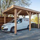 Auto carport van hout