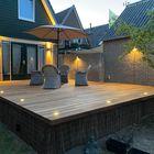 Lame de terrasse en bois exotique Ipé - Éclairage