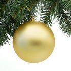 Kerstbal goud groot 12 cm