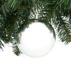 Kerstbal 10 cm zilver