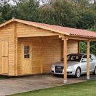 berggren houten garage met carport
