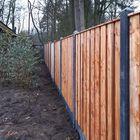 Tuinscherm Red Class Wood met betonpalen