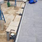 Voorbereiding overkapping - Betonpoeren