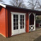 Blokhut 6732 Interflex Gecoat Zweeds Rood + Wit Sfeer