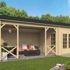 Holz Blockhaus Kukka 700 x 350 cm
