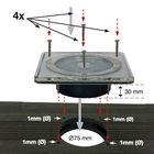 vlonder spot solar led vierkant maten