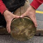 ronde paal gefreesd 25 cm diameter rondhout grenen