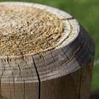 gekruinde kop rondhout recht gefreesd