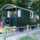 houten pipowagen / bouwkeet