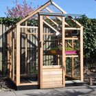 Houten tuinkas Royal Well New Classic 66 - 184 x 184 cm, nokhoogte 232 cm