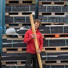 kastanje houten palen rondhout 8-10 cm dikte