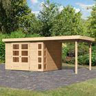 Tuinhuis Kerko 5 met aanbouw Karibu