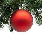 kerstbal rood onbreekbaar 10 cm
