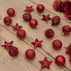 Kerstballen rood onbreekbaar kerstversiering