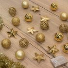 Kerstballen onbreekbaar goud kerstversiering