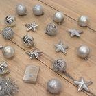 Kerstversiering zilver onbreekbare kerstballen