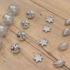 Kerstballen luxe zilver onbreekbaar