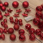 Kerstboomversiering rood onbreekbare kerstbalen