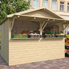 houten marktkraam noel