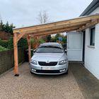 Carport met polycarbonaat dak en zijdrager Aluminium