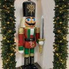 Notenkraker pop groot kerst met zwaard