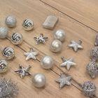 Kerstversiering kerstballen onbreekbaar zilver