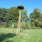 Ooievaarsnest - Ronde paal Diameter 25 cm